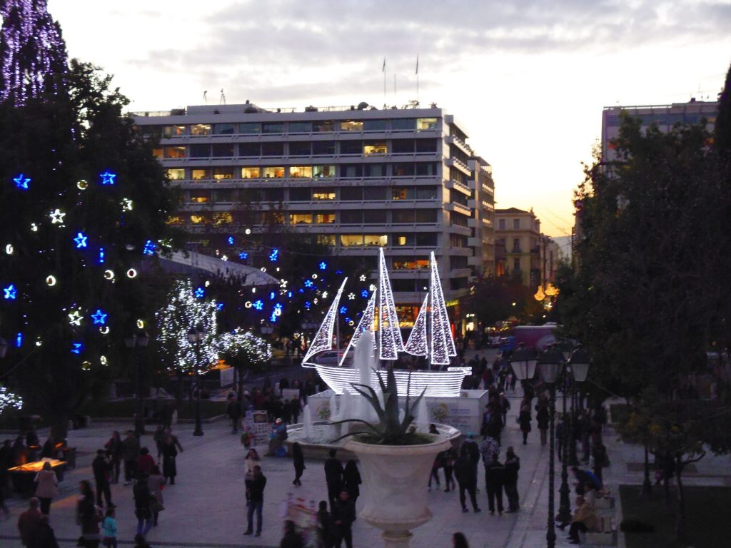Wandering through Syntagma Square at Christmas 2014