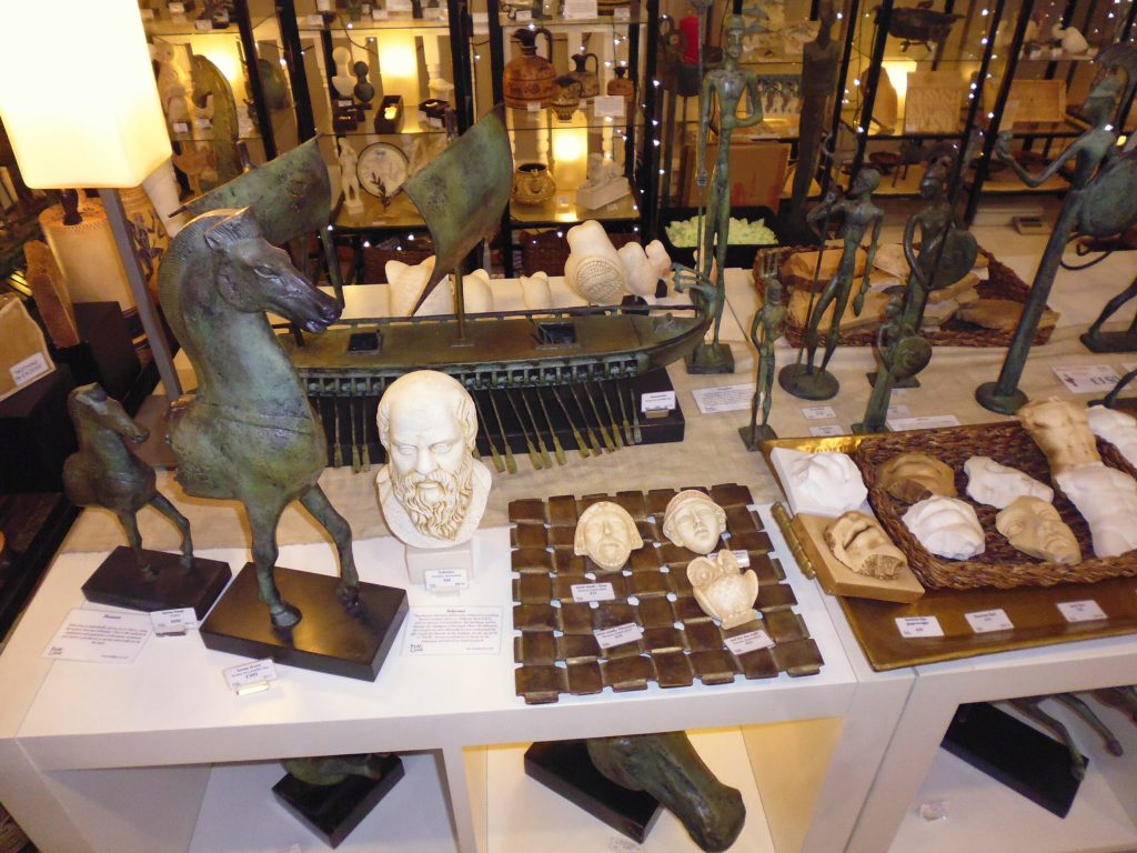 Artifacts for sale at It's All Greek