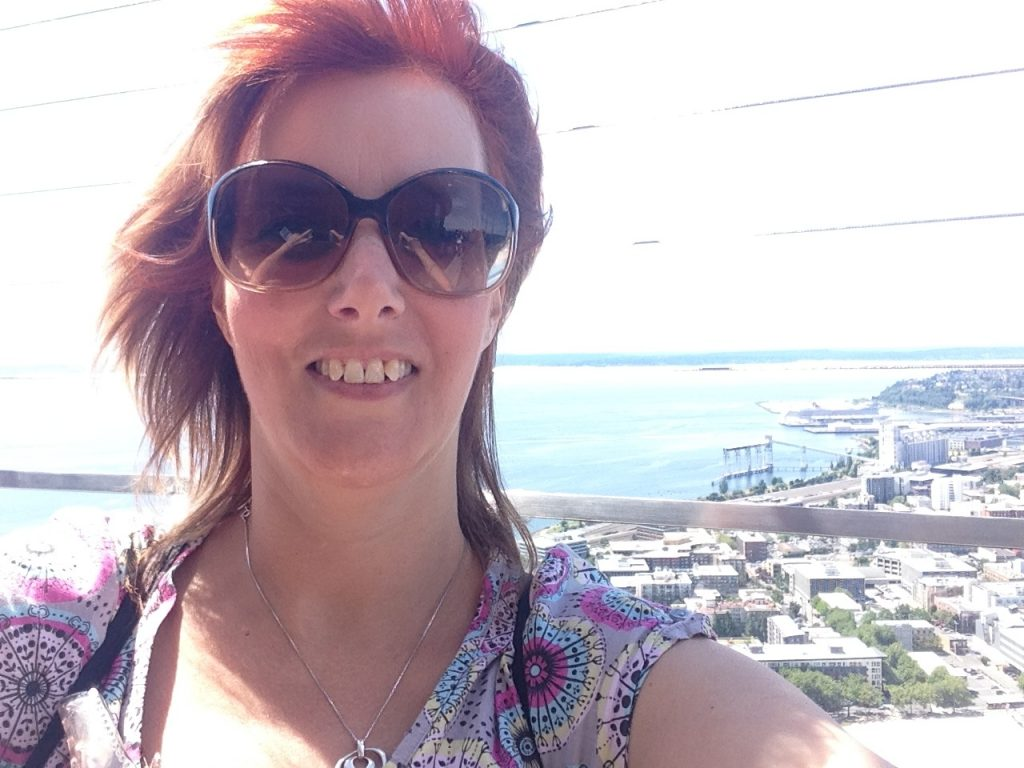 Selfie on the Observation Deck of the Space Needle!