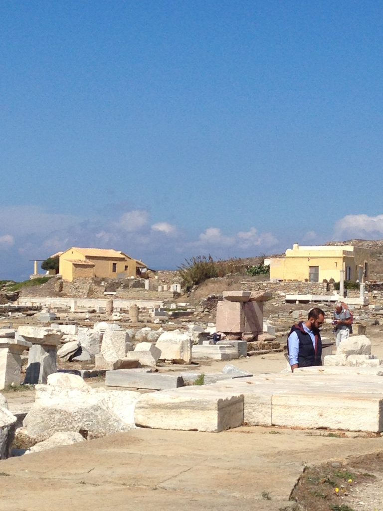 Ancient site - with guards houses just visible in the background