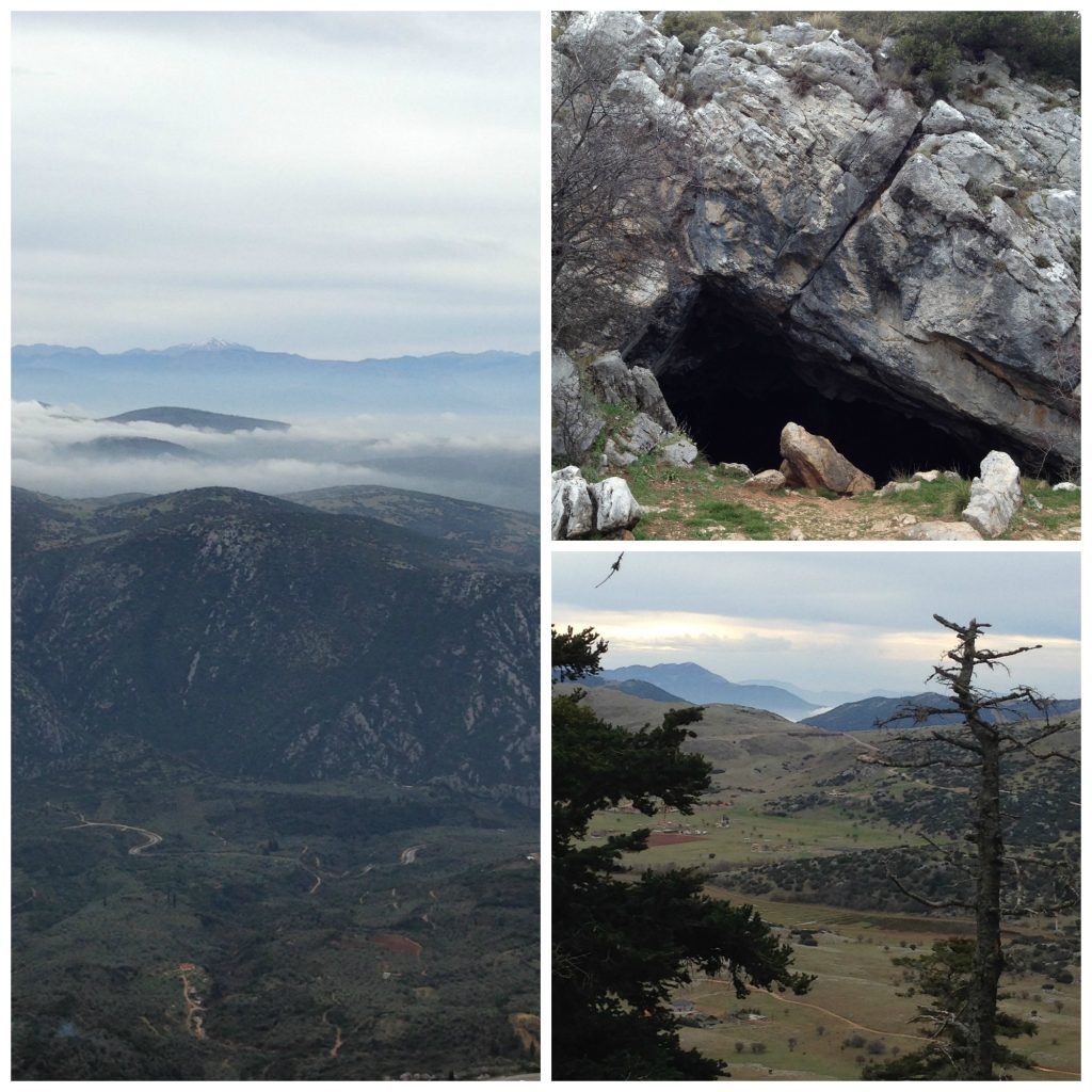 Cave Of Korikion Andron - and views