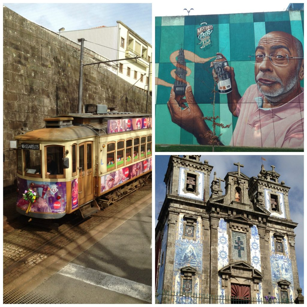 Some of the lovely architecture, street art and local transport you'll find in Porto
