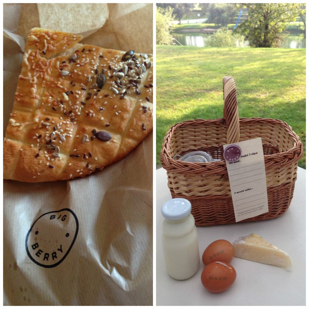 Big Berry Breakfast Basket and fresh bread every morning