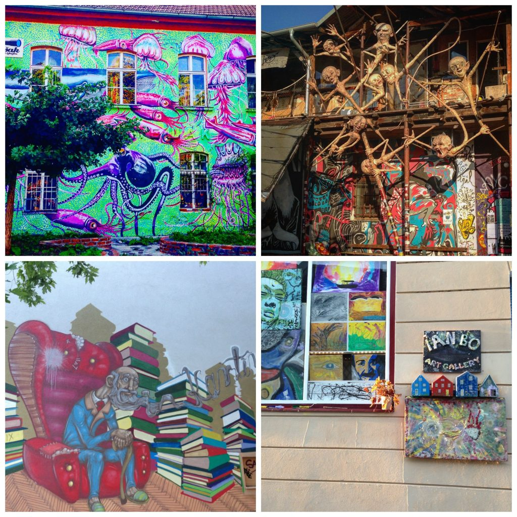 Metelkova district of Ljubljana - with its random street art and eclecticness