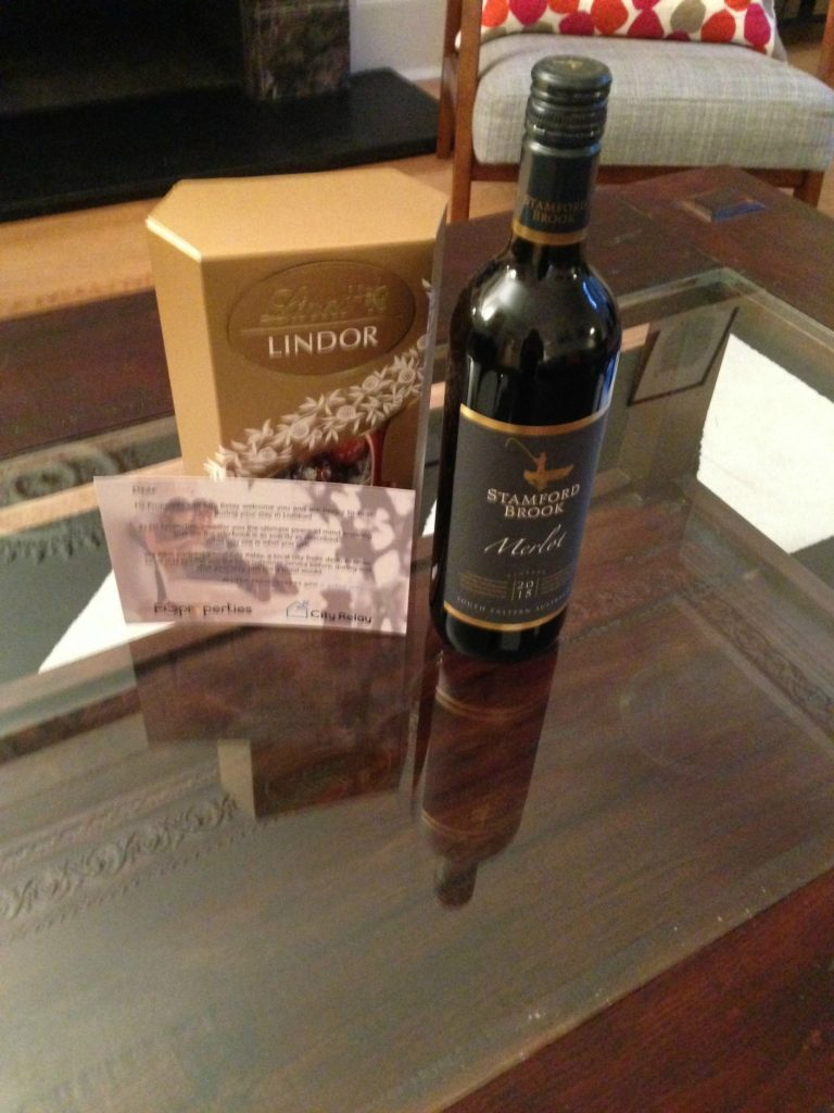 FG Properties provided the chocolate and wine!