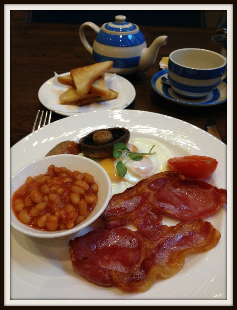 Fried English breakfast at the Bristol Harbour Hotel
