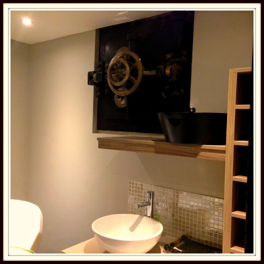 An example of a spa room with the old bank vault features at Bristol Harbour Hotel