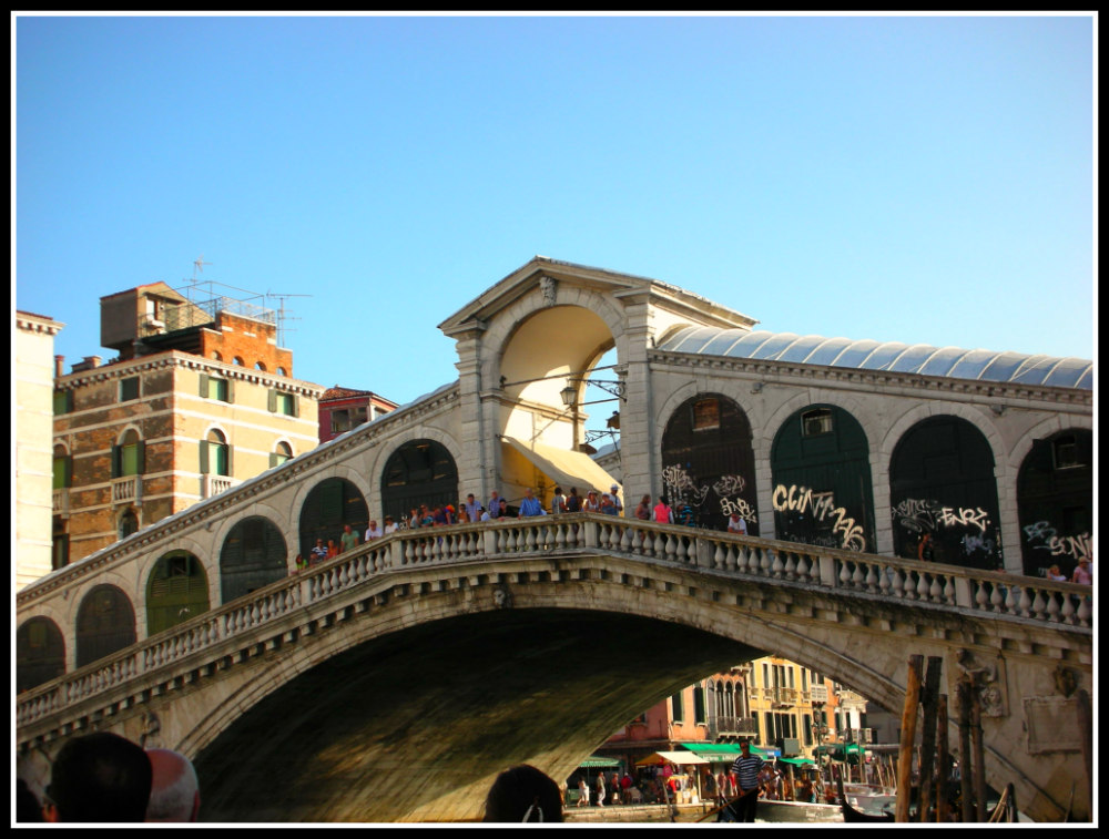 One day in Venice, Italy - a motor boat ride along the Grand Canal and see the Rialto Bridge - LifeBeyondBorders