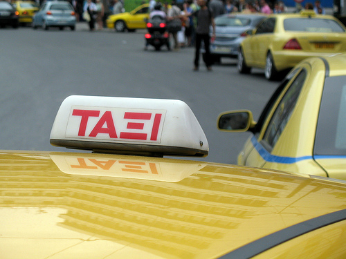 greek taxi photo