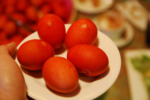 red eggs photo