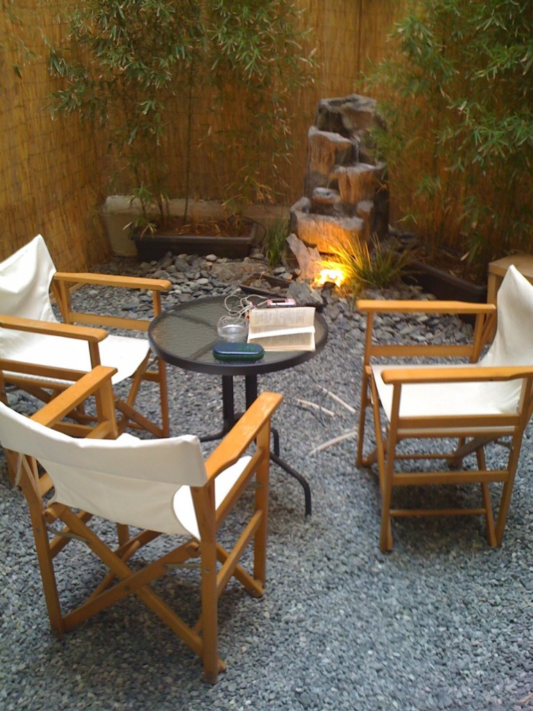 Nice garden to relax in after your treatment