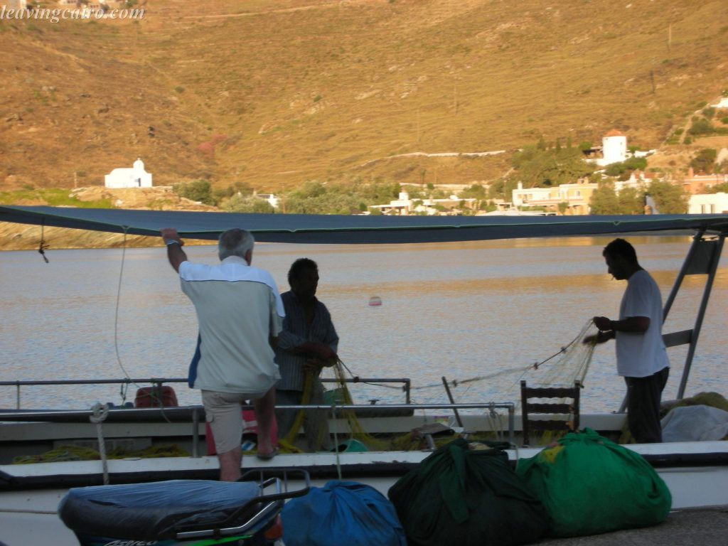 Fishermen going about their day on the Greek island of Kea - LifeBeyondBorders