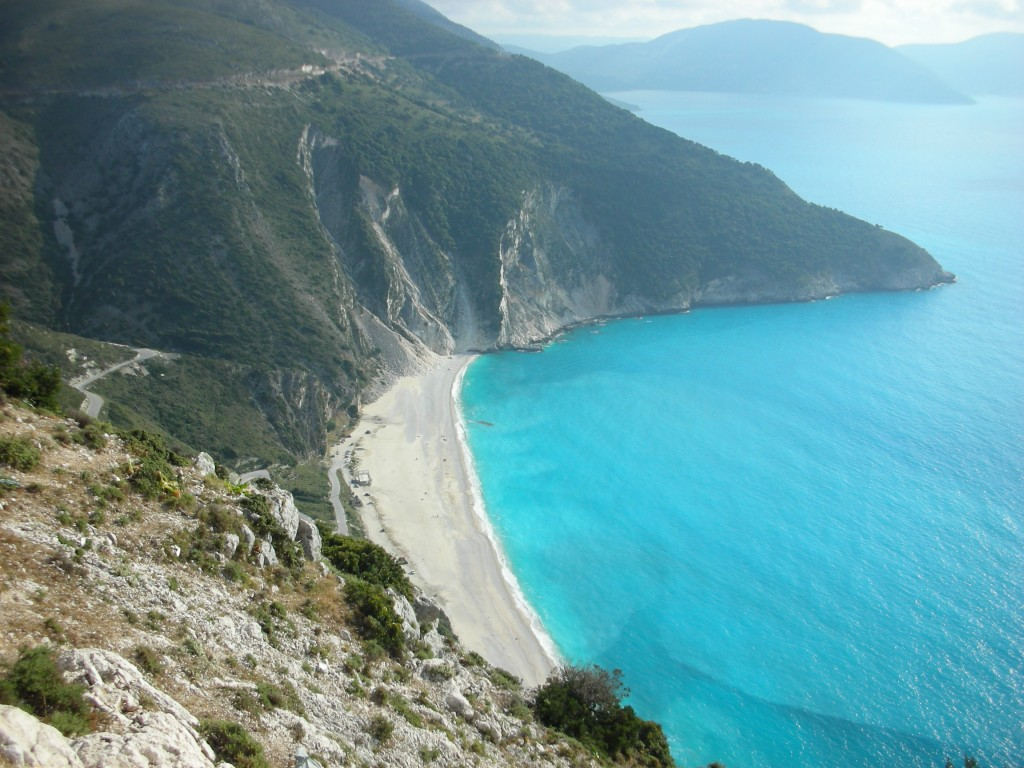 Recognise this famous beach in Kefalonia from a movie?  Hint: Nicholas Cage & Penelope Cruz