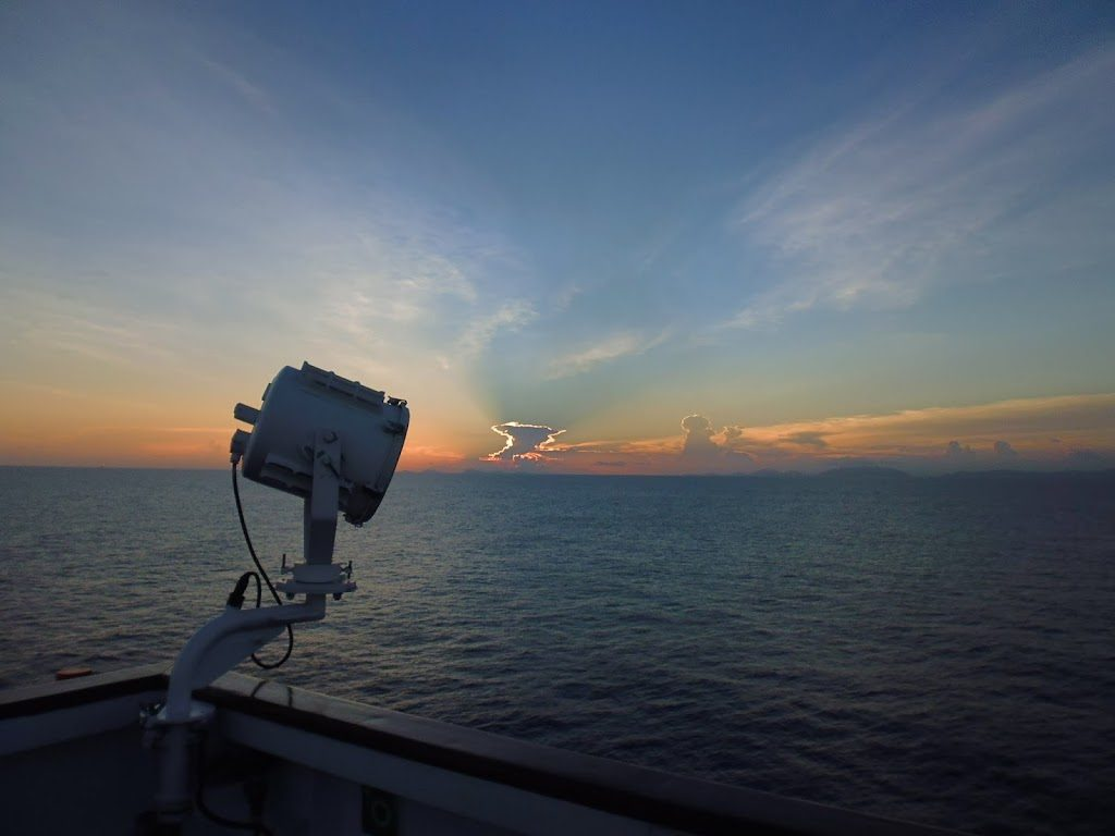 Gorgeous sunset, my last night on the ship in South China Sea