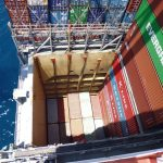 What does a container ship carry?