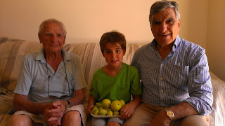 Marcus's son and great Bappou in Cyprus