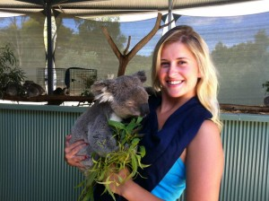 Tamzin with a koala
