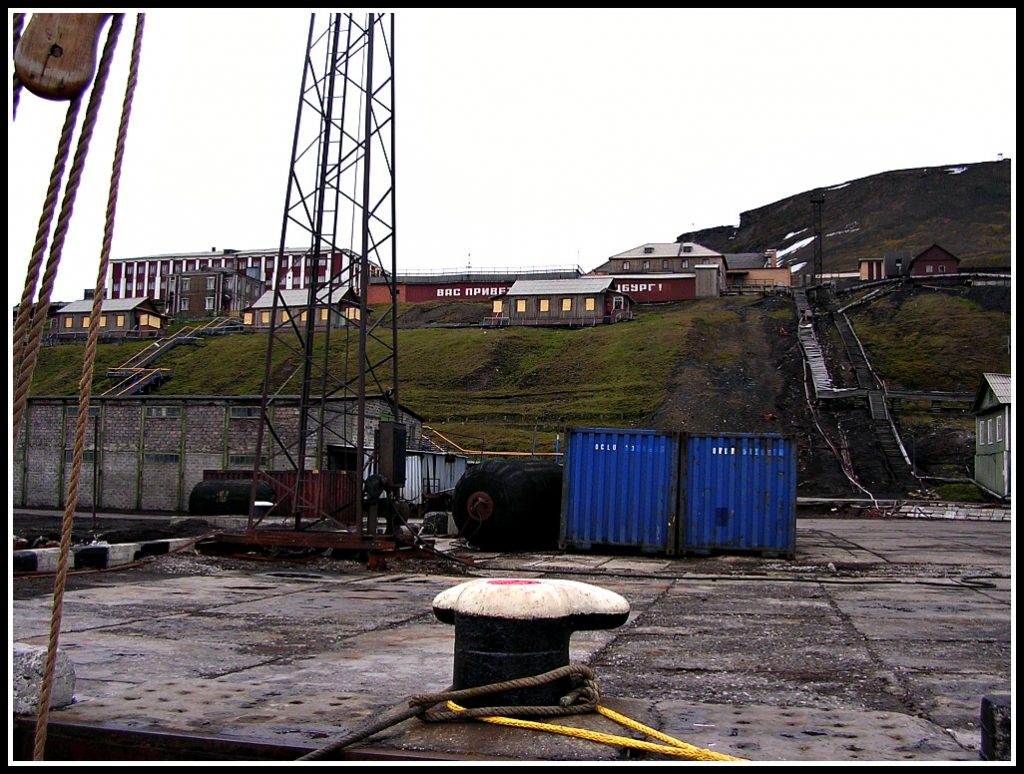Barentsberg dock - we were warned to NOT go into the toilet - Travelling the Arctic