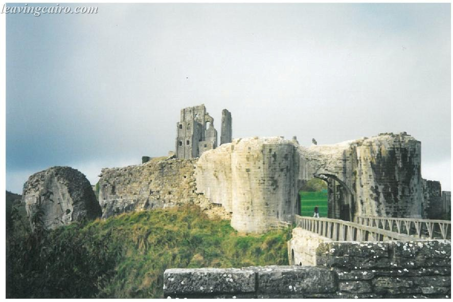 Corfe Castle found in the Dorset village of Corfe - UK