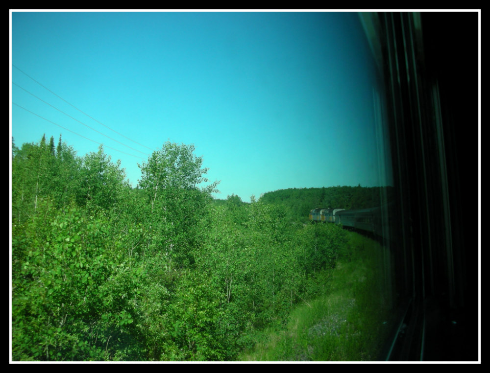 View from VIA Rail carriage from Winnipeg to Churchill, Manitoba, Canada