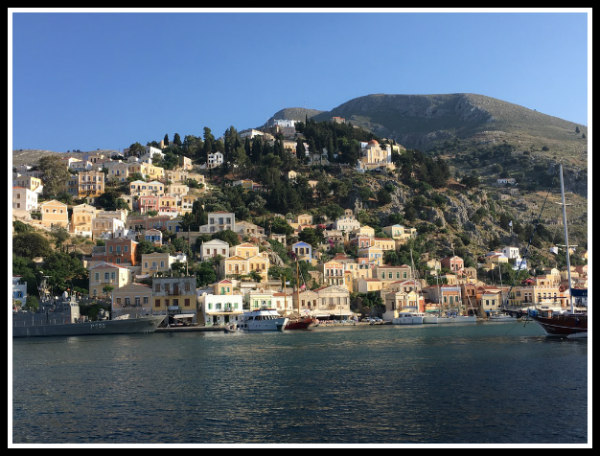 Symi Harbour as seen from the incoming ferry