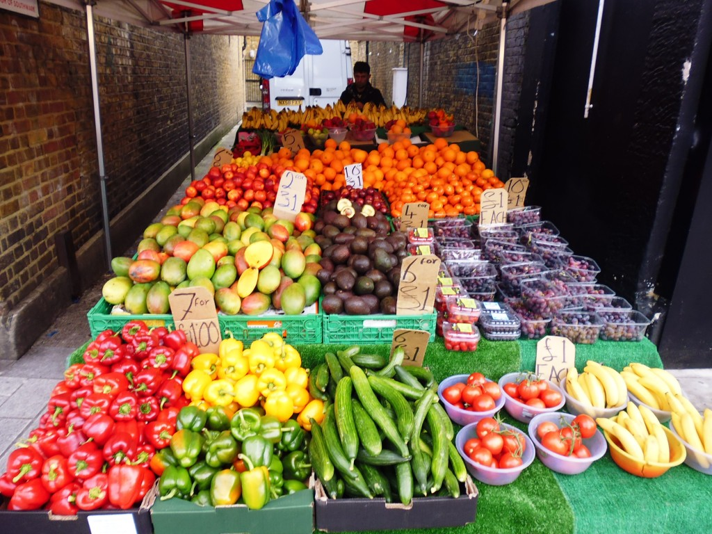 Colourful fruit & veg on display