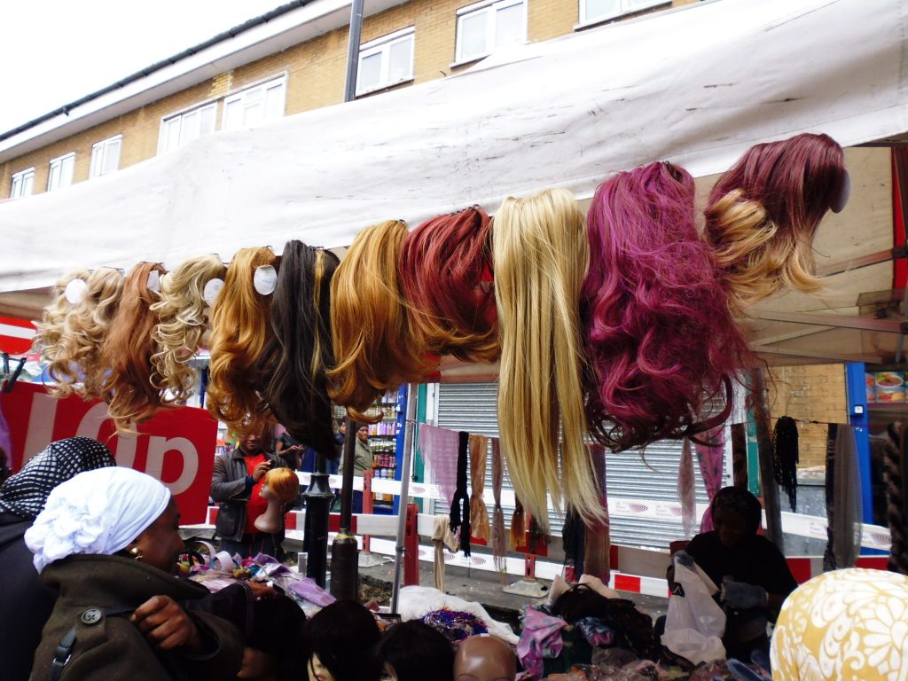 Hair extensions anyone? From London's East Street Market - LifeBeyondBorders