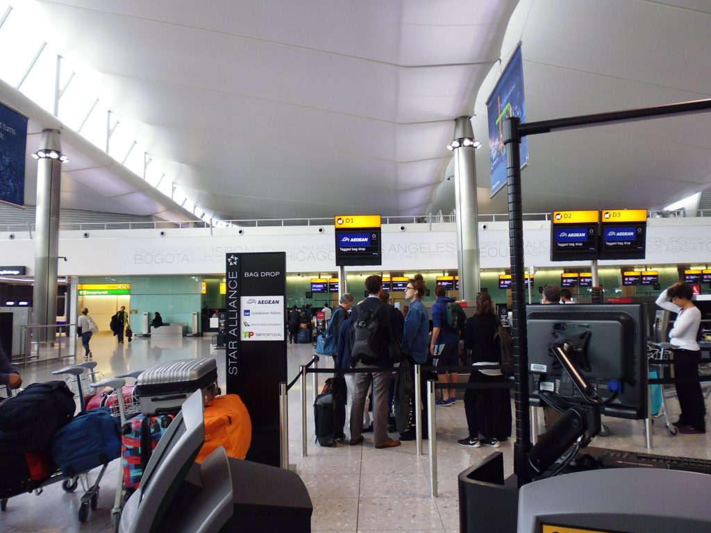 Check-in at the Queen's Terminal - LHR Terminal 2. Life Beyond Borders