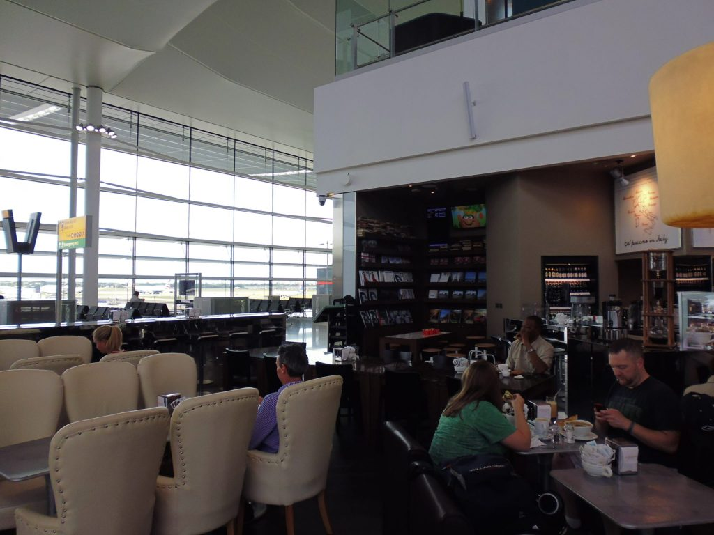 How about a quiet coffee or snack whilst waiting for your gate to be called? One of many food outlets at the Queen's Terminal at LHR Terminal 2 - LifeBeyondBorders