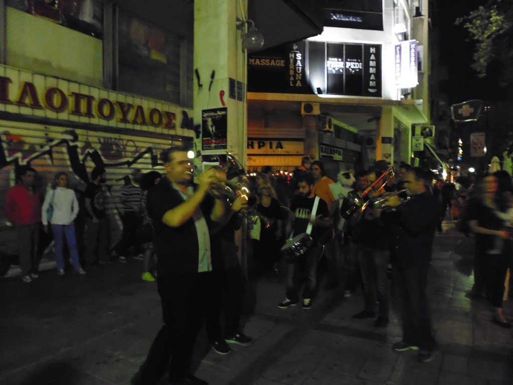 New Orleans band in full swing