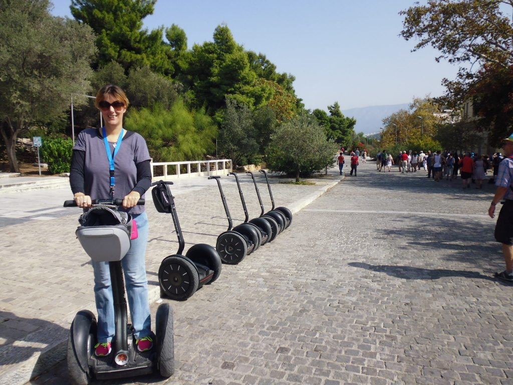 On the Segway. Yes, pure concentration on my face!