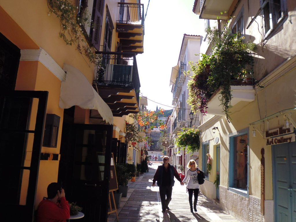 Take a romantic stroll down Nafplio's many alleys