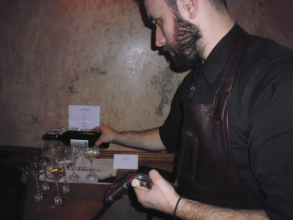 Bartender Nikos at The Clumsies