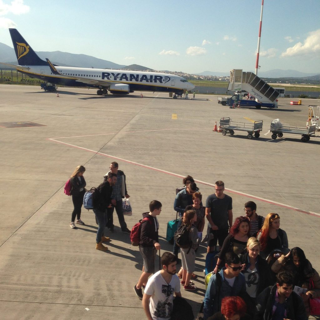 Boaring Ryanair - view from my seat