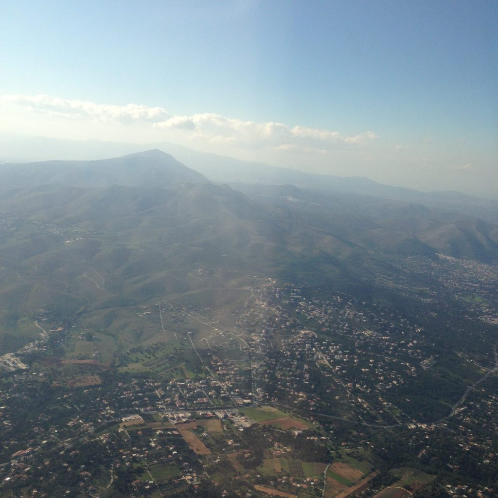 View from Ryanair - take off from Athens International Airport