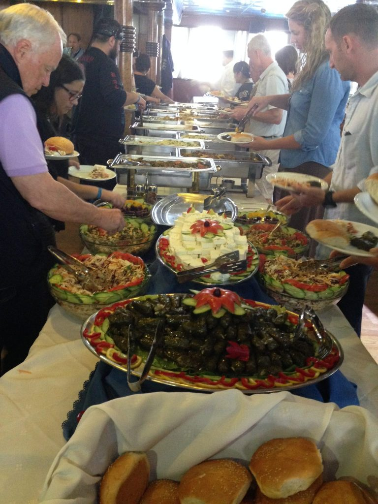 Buffet lunch on Athens One Day Cruise