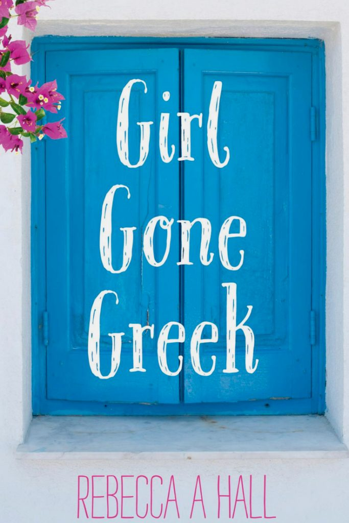 Girl Gone Greek Book Cover to me screams Greece