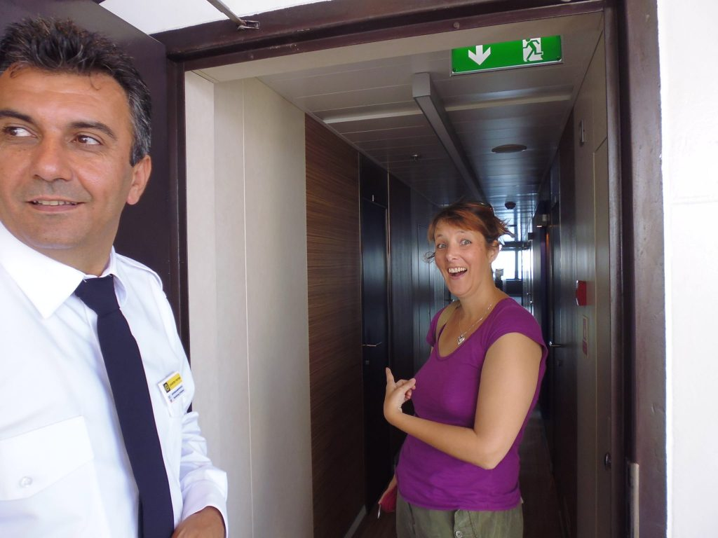 About to go into the Captain's quarters/Bridge of the Fior Di Levante ferry to Zakynthos
