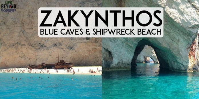 Things to see on Zakynthos island - Greece: Blue Caves and Shipwreck Beach