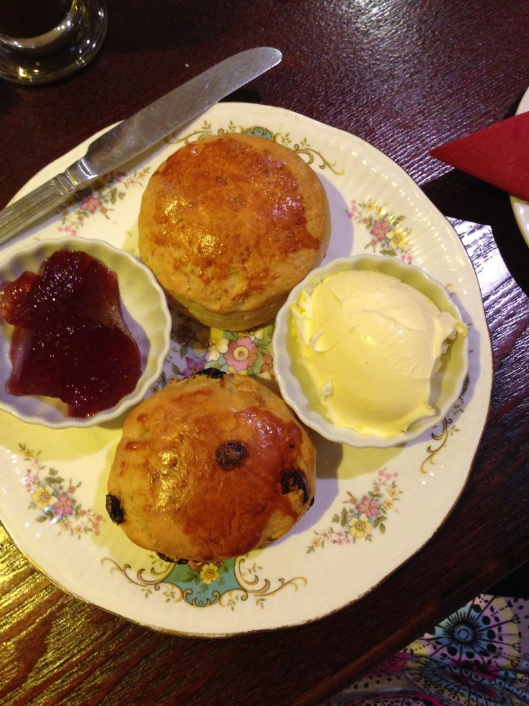 Delicious cream tea at Lady Dinah's Cat Cafe