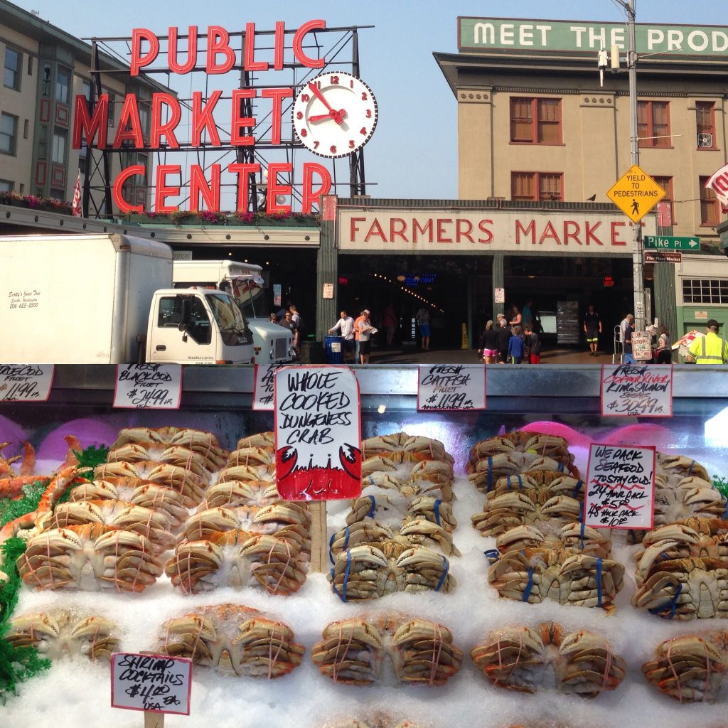 Look at all this great fish on offer at the Pike Place Market - Seattle