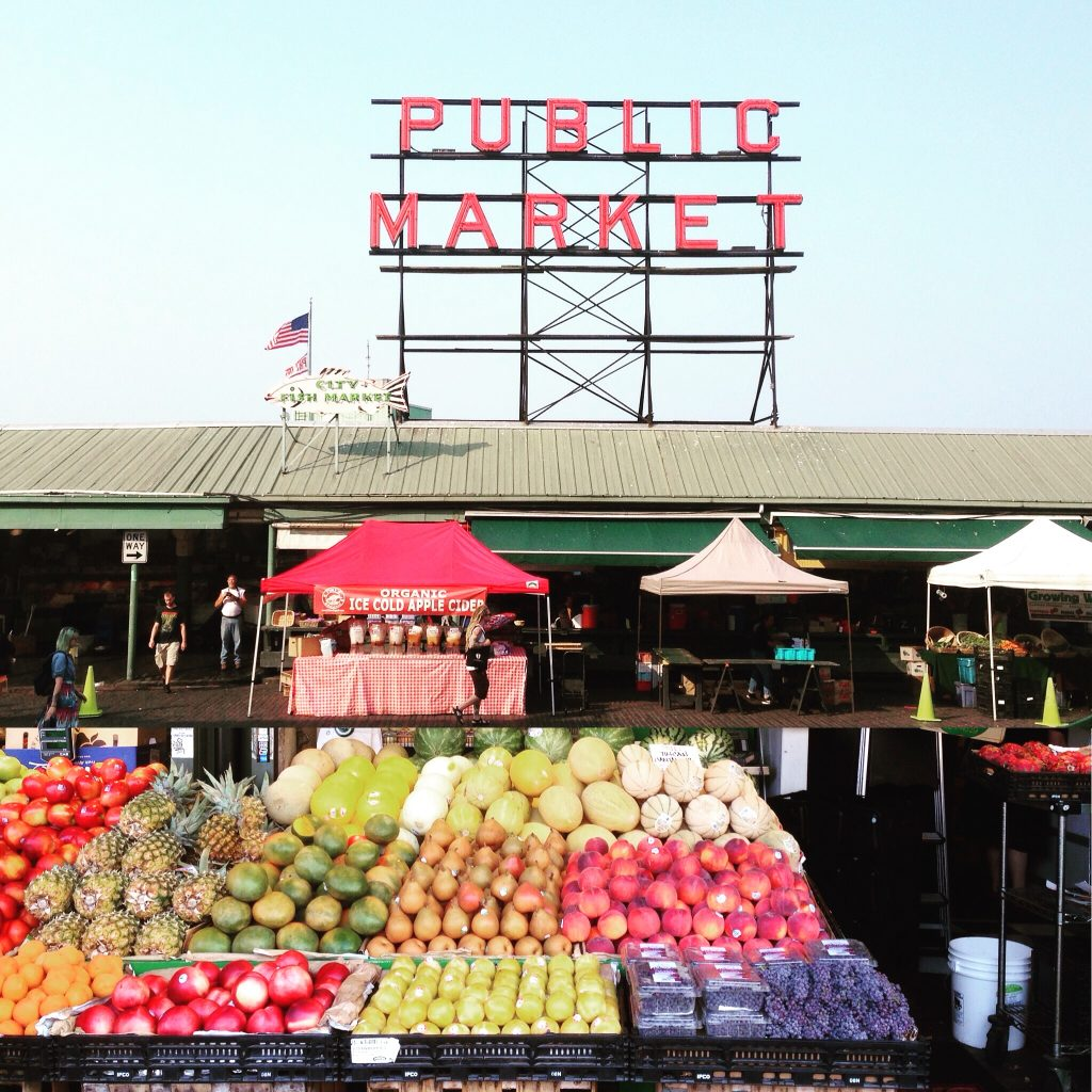 Anyone for fresh vegetables? Pike Place Market - Seattle.