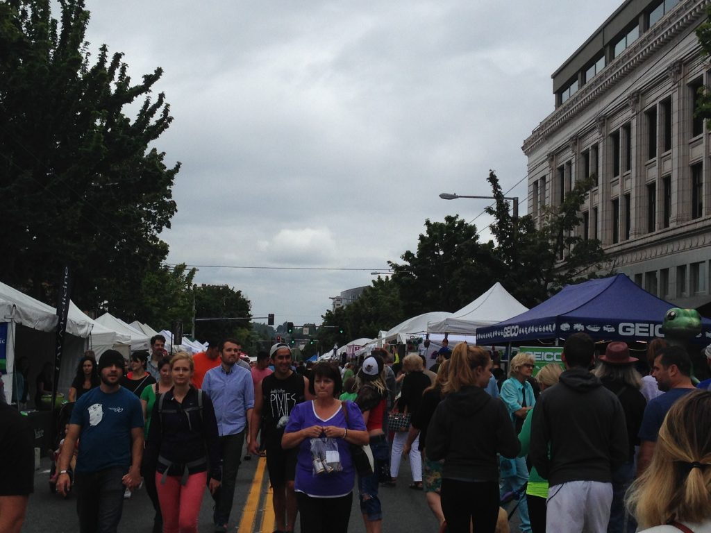 Getting busy at the Ballard Seafood Fest