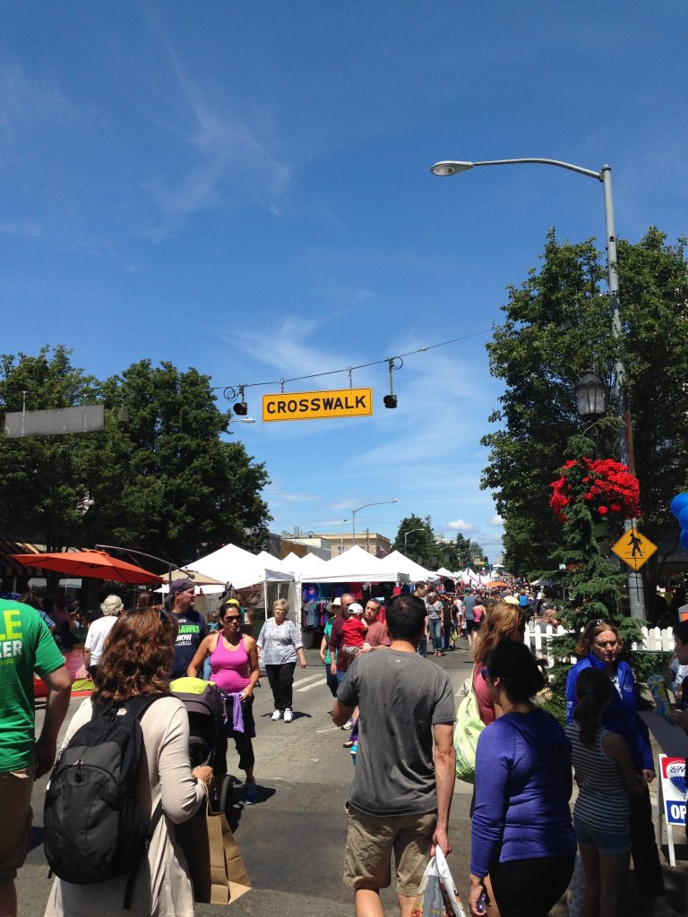 Busy at the West Seattle Summer Fest too