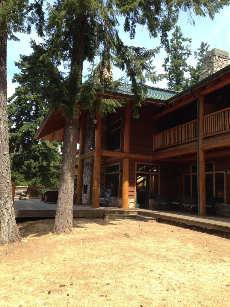 Entrance to The Lodge at Lakedale Resort on San Juan Island