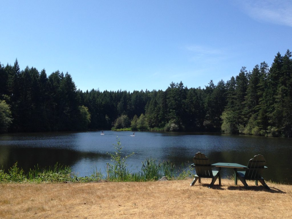 One of the three lakes at Lakedale Resort, San Juan Island