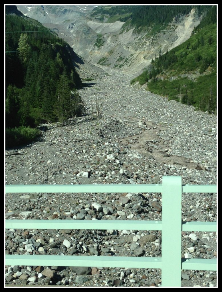 The river at Mt Rainier National Park was just a trickle - the shingle area should have been completely covered with water. Life Beyond Borders