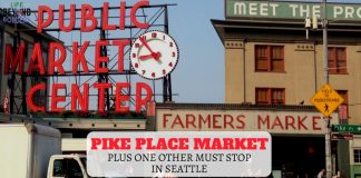 Pike Place Market and Gum wall - Seattle - USA