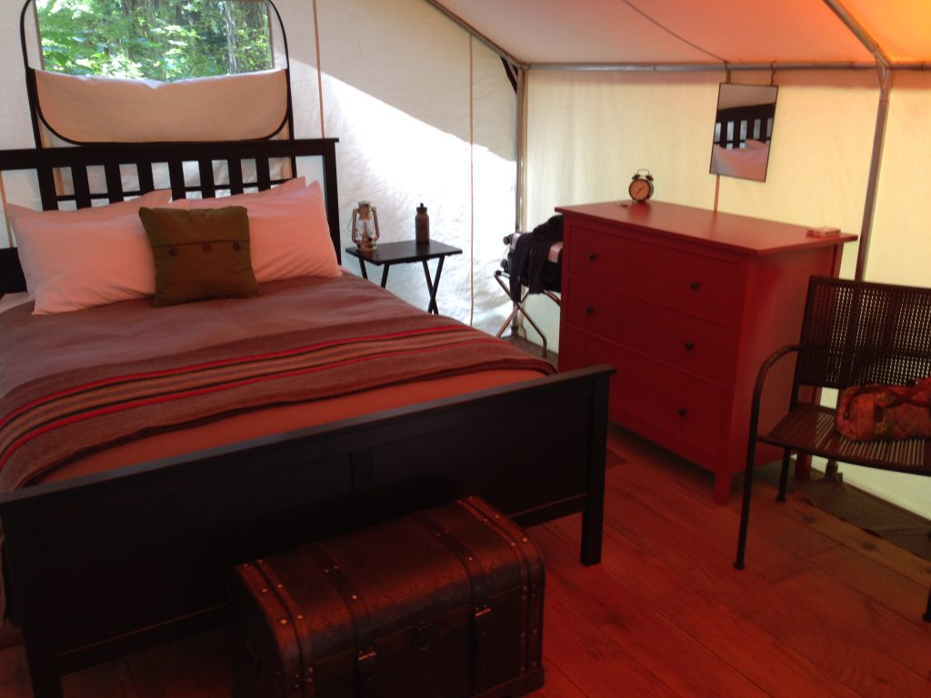 The interior of my Wanderlust Camp in Moran State Park - Orcas Island