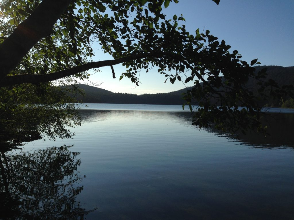 View of Cascade Lake - Moran State Park, Orcas Island where Wanderlust Campsite is located